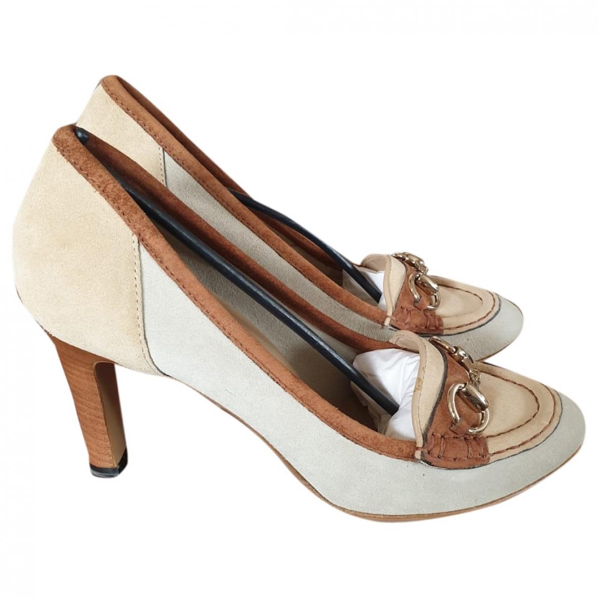 Gucci \N Beige Suede Heels for Women 36.5 EU