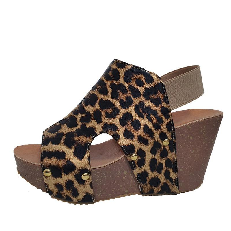 Ericdress Open Toe Slip-On Wedge Heel Low-Cut Upper Sandals