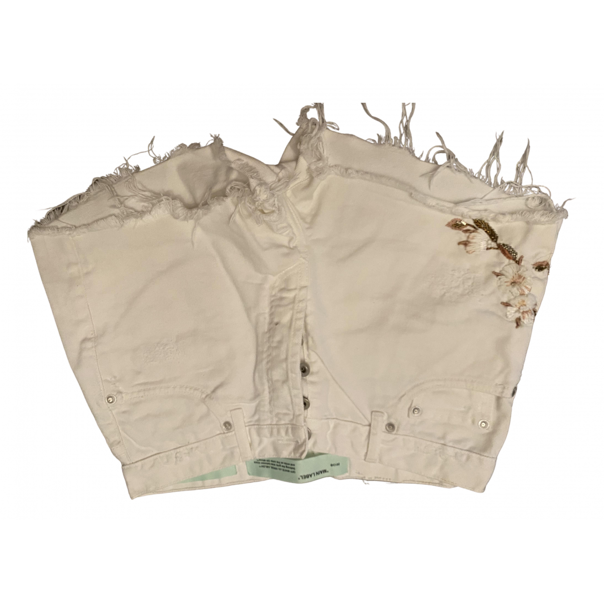 Off-white \N White Denim - Jeans Shorts for Women 42 IT