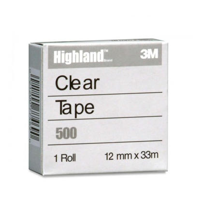 3M Highland ruban adh esif transparent (500) - 12 mm x 33 m (Recharge) 260422