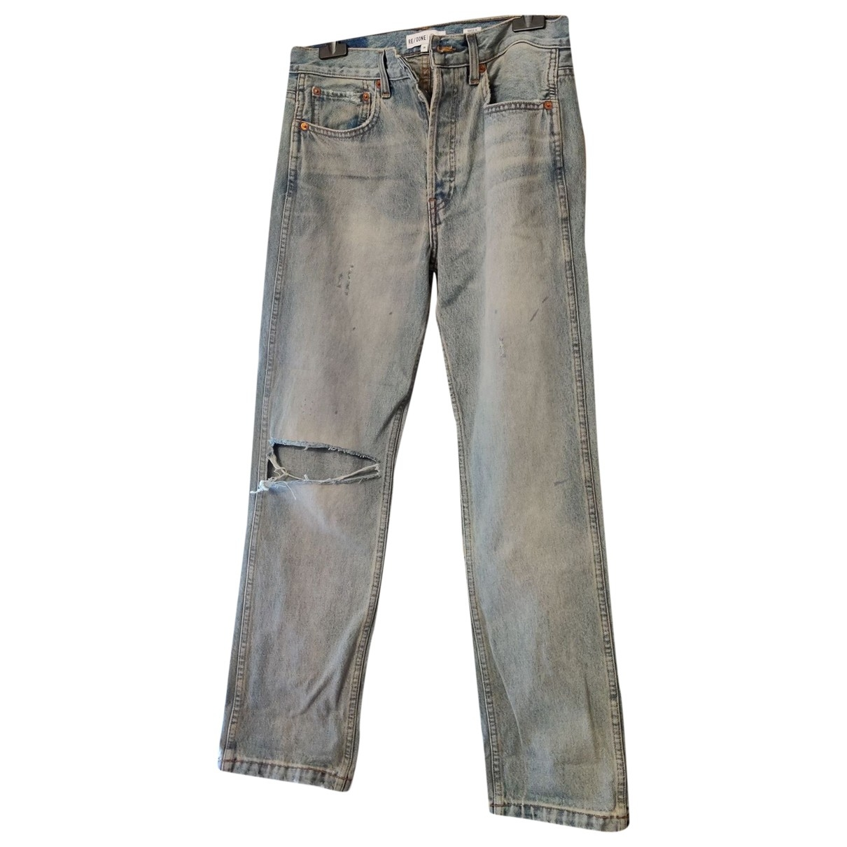 Re/done \N Blue Cotton Jeans for Women 28 US