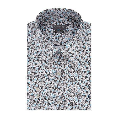 Van Heusen - Super Slim Mens Point Collar Long Sleeve Stretch Dress Shirt, 16.5 34-35, Multiple Colors