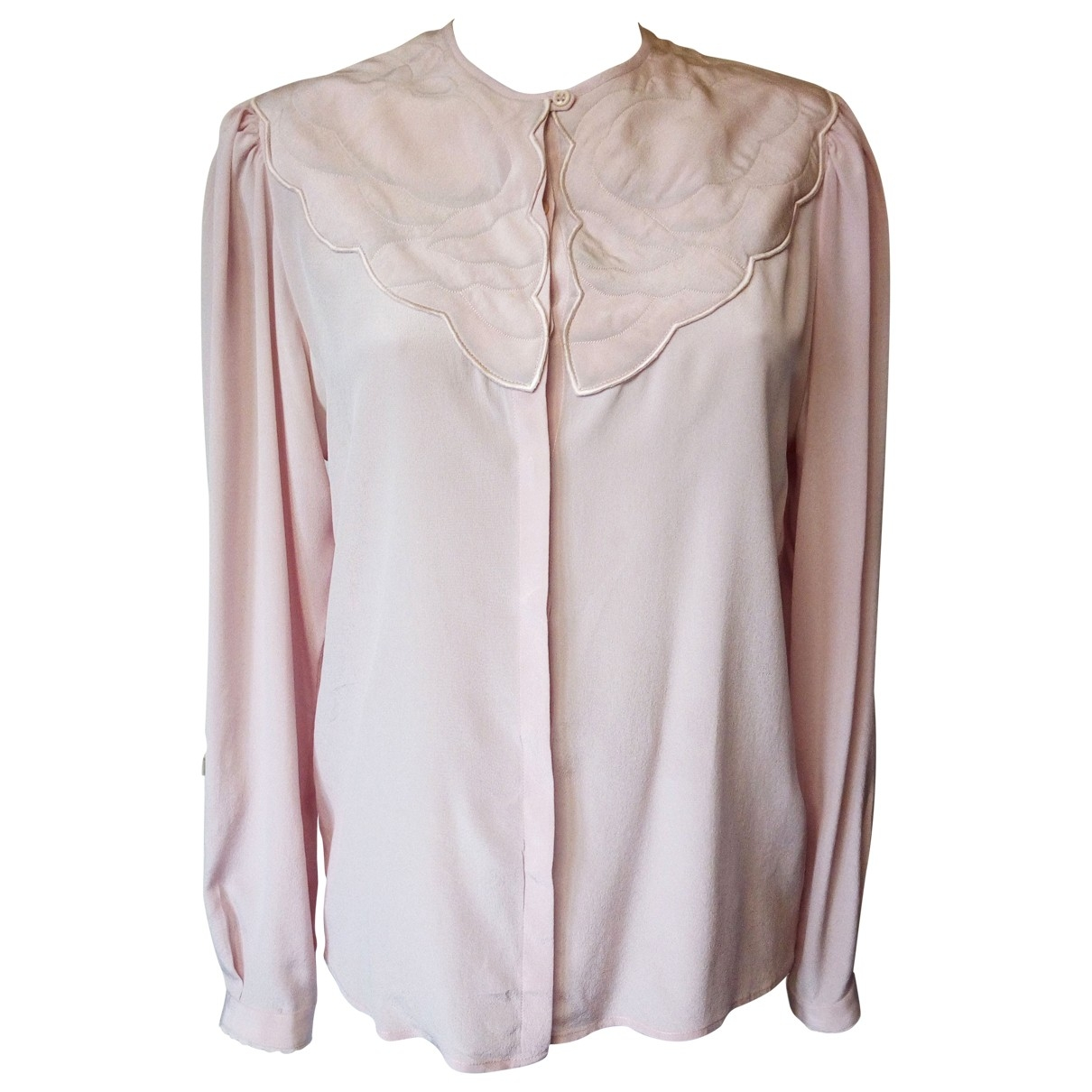 Non Signé / Unsigned \N Pink Silk  top for Women M International