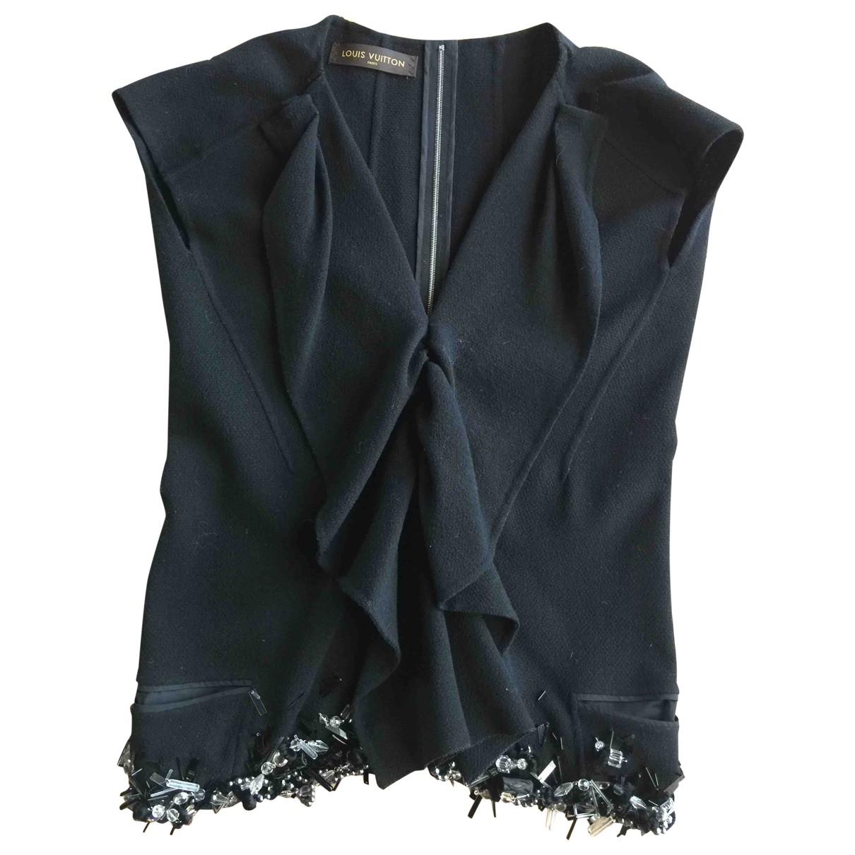 Louis Vuitton \N Black Wool  top for Women 38 FR