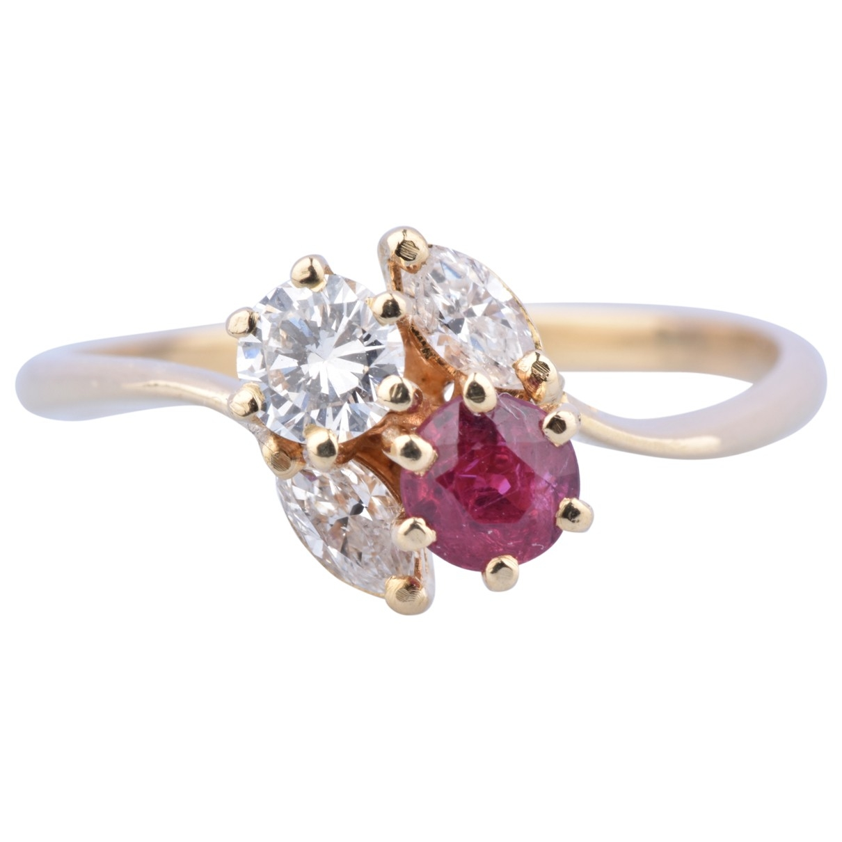 Non Signé / Unsigned Rubis Yellow Yellow gold ring for Women \N