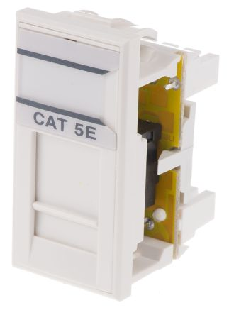 HellermannTyton Cat5e 1 Way RJ45 Outlet,With UTP Shield Type