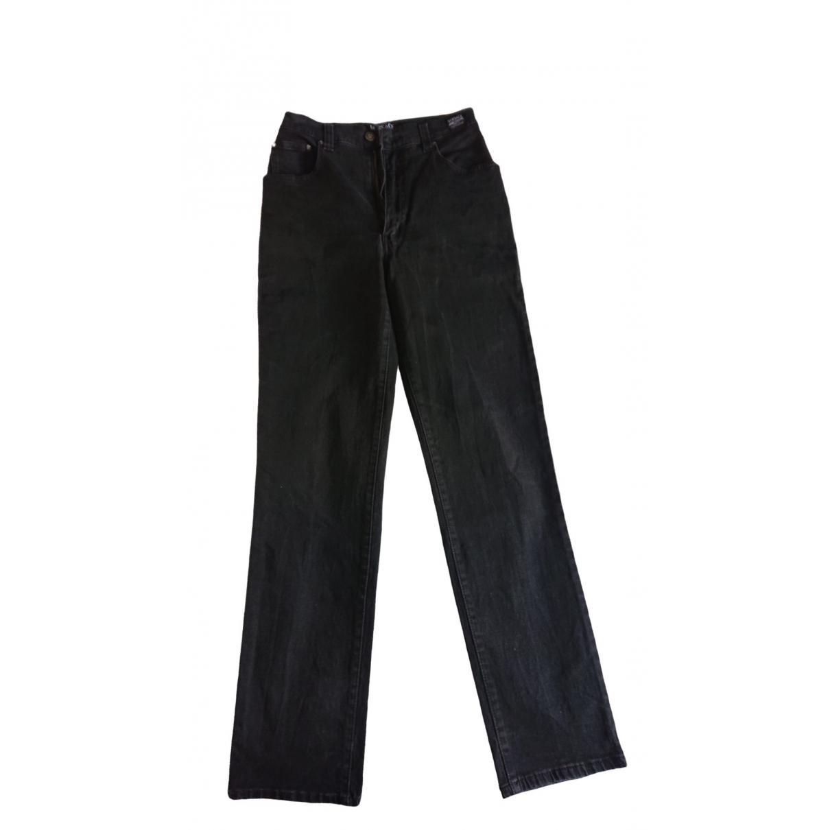 Versace Jeans \N Black Denim - Jeans Trousers for Women 44 IT