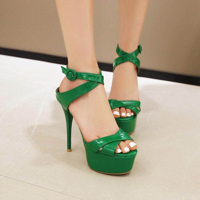 Ericdress Stiletto Heel Open Toe Heel Covering Sweet Women's Sandals