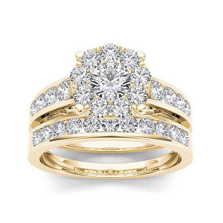 1 1/2 CT. T.W. Diamond 10K Yellow Gold Bridal Set, 6 1/2 , No Color Family