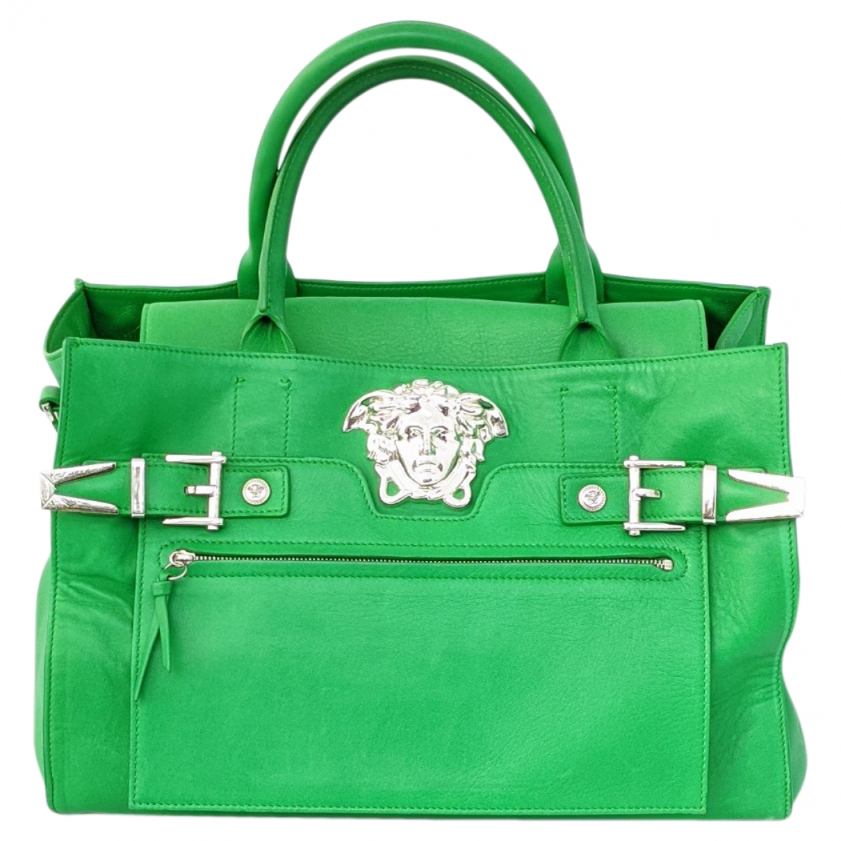 Versace \N Green Leather handbag for Women \N