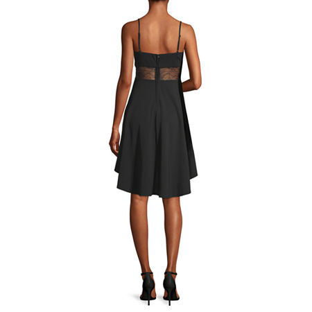 B. Smart-Juniors Sleeveless High-Low Fit & Flare Dress, 7 , Black