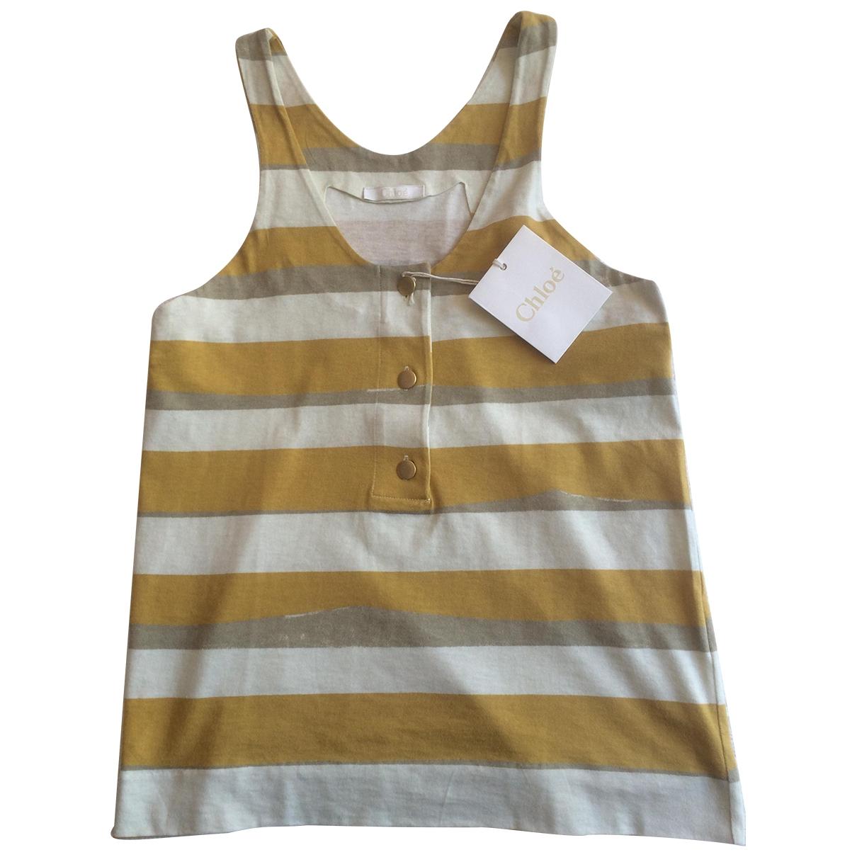 Chloé \N Yellow Cotton  top for Women 38 FR