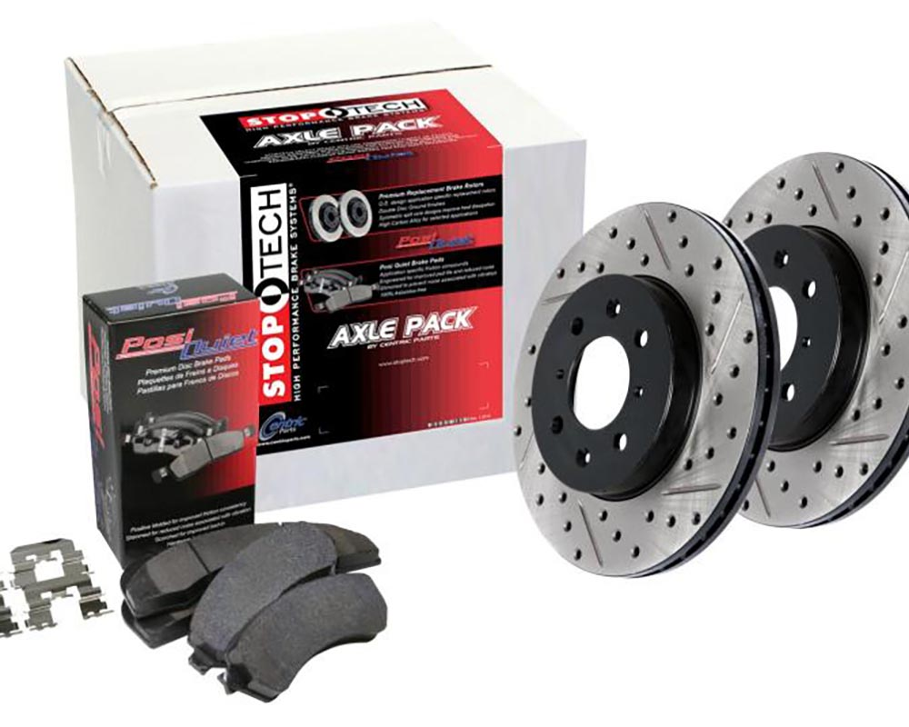 StopTech 935.44034 Street Axle Pack; Drilled and Slotted; 4 Wheel Lexus RX300 Front and Rear 2002-2003 3.0L V6