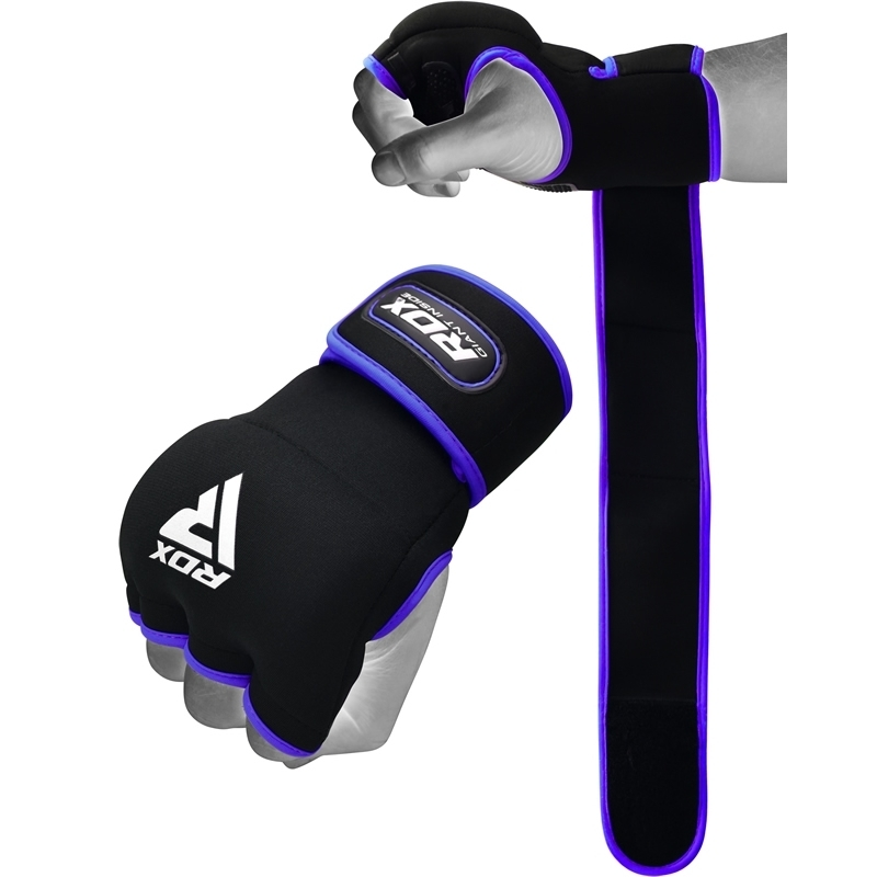 RDX X8 Inner Hand Gloves with Strap Neoprene Small Blue/Black/White