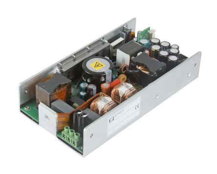 XP Power , 250 (Convection) W, 500 (Peak) W Embedded Switch Mode Power Supply SMPS, 48V dc, U Bracket, Medical Approved