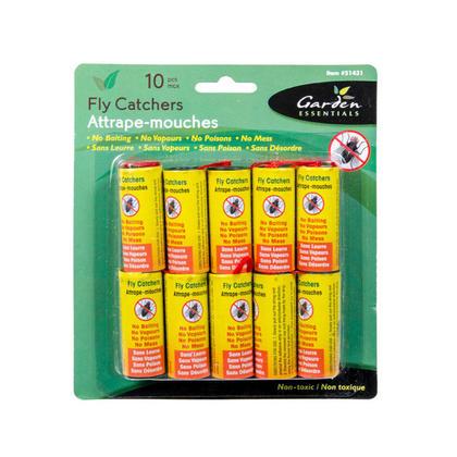 Piège à mouche, ruban de papier mouche, bandes de mouches collantes - 10 / paquet