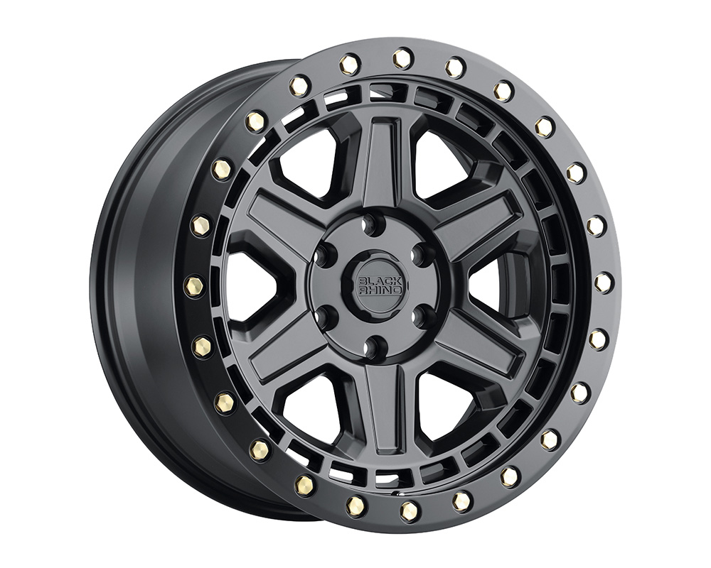 Black Rhino Reno Wheel 18x9.5  6x139.7 12mm Matte Black w/Brass Bolts