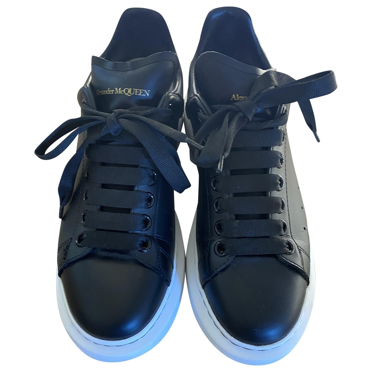 Alexander Mcqueen \N Black Leather Trainers for Women 38 EU
