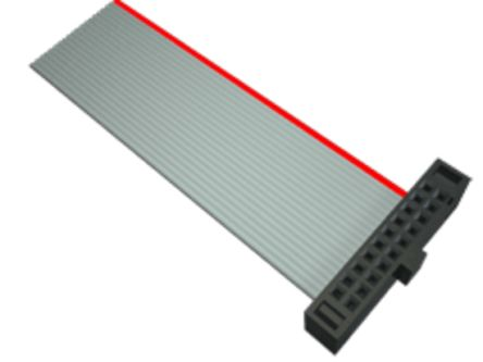Samtec Flat Ribbon Cable 6in, Female IDC 8-pin to Female IDC 8-pin, Ribbon Cable Assembly