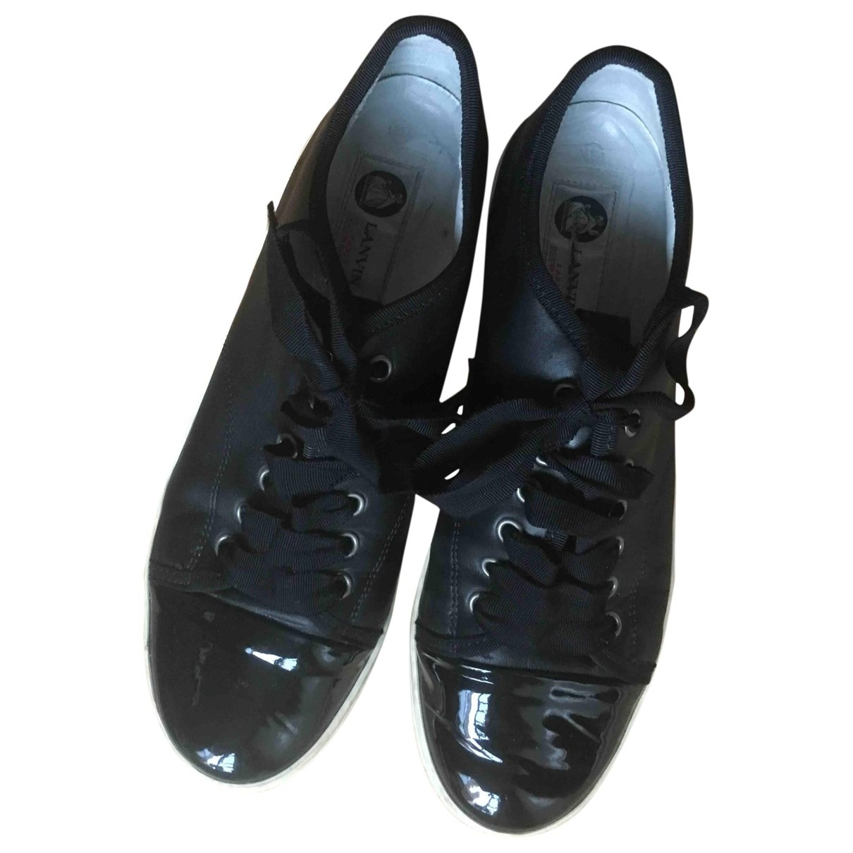 Lanvin \N Black Leather Trainers for Women 39 EU