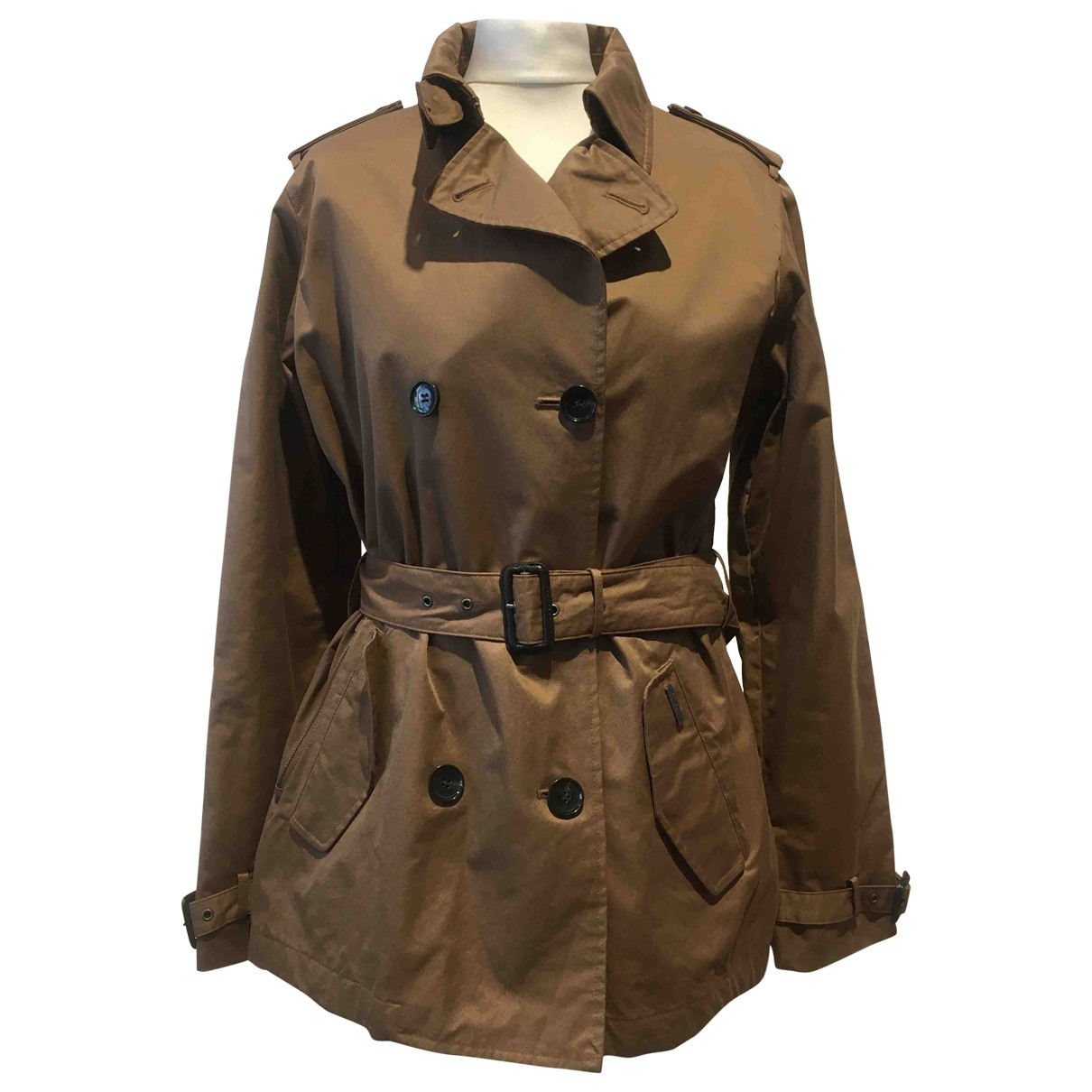 Woolrich \N Brown Cotton Trench coat for Women L International