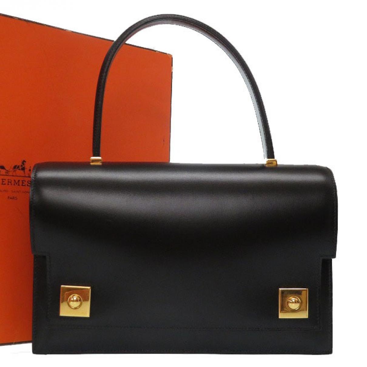 Hermès Piano Black Leather handbag for Women \N
