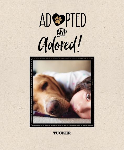 Pet Framed Canvas Print, Oak, 16x20, Home Décor -Pet Rescue
