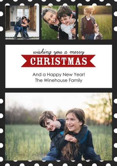 Christmas Photo Cards Flat Glossy Photo Paper Cards with Envelopes, 5x7, Card & Stationery -Modern Merry Christmas