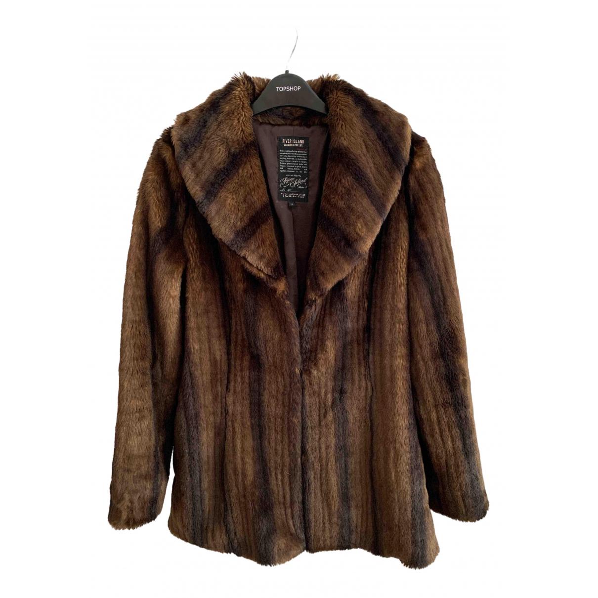 River Island \N Brown Faux fur coat for Women 8 UK