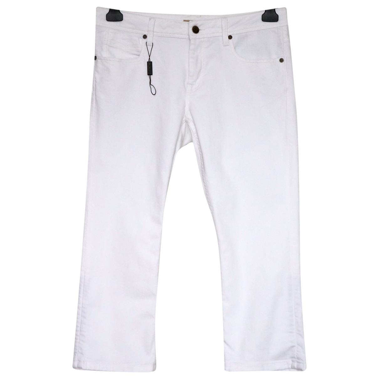 Burberry \N White Cotton Trousers for Women L International