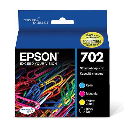 Epson T702 T702120-BCS Original Ink Cartridge Combo BK/C/M/Y