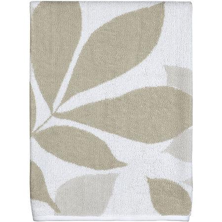 Creative Bath Shadow Leaves Bath Towels, One Size , Brown