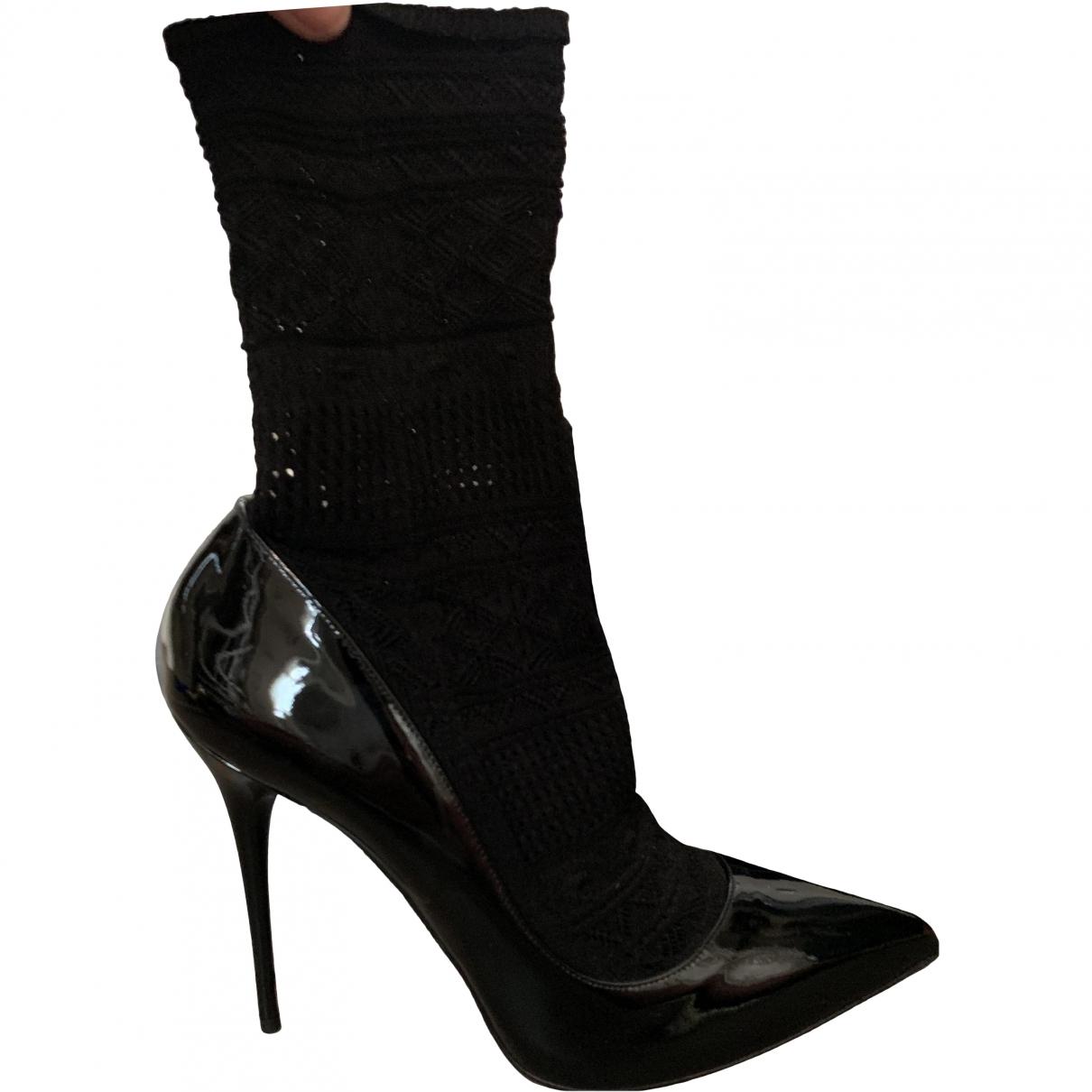 Alexander Mcqueen \N Black Patent leather Heels for Women 40 EU