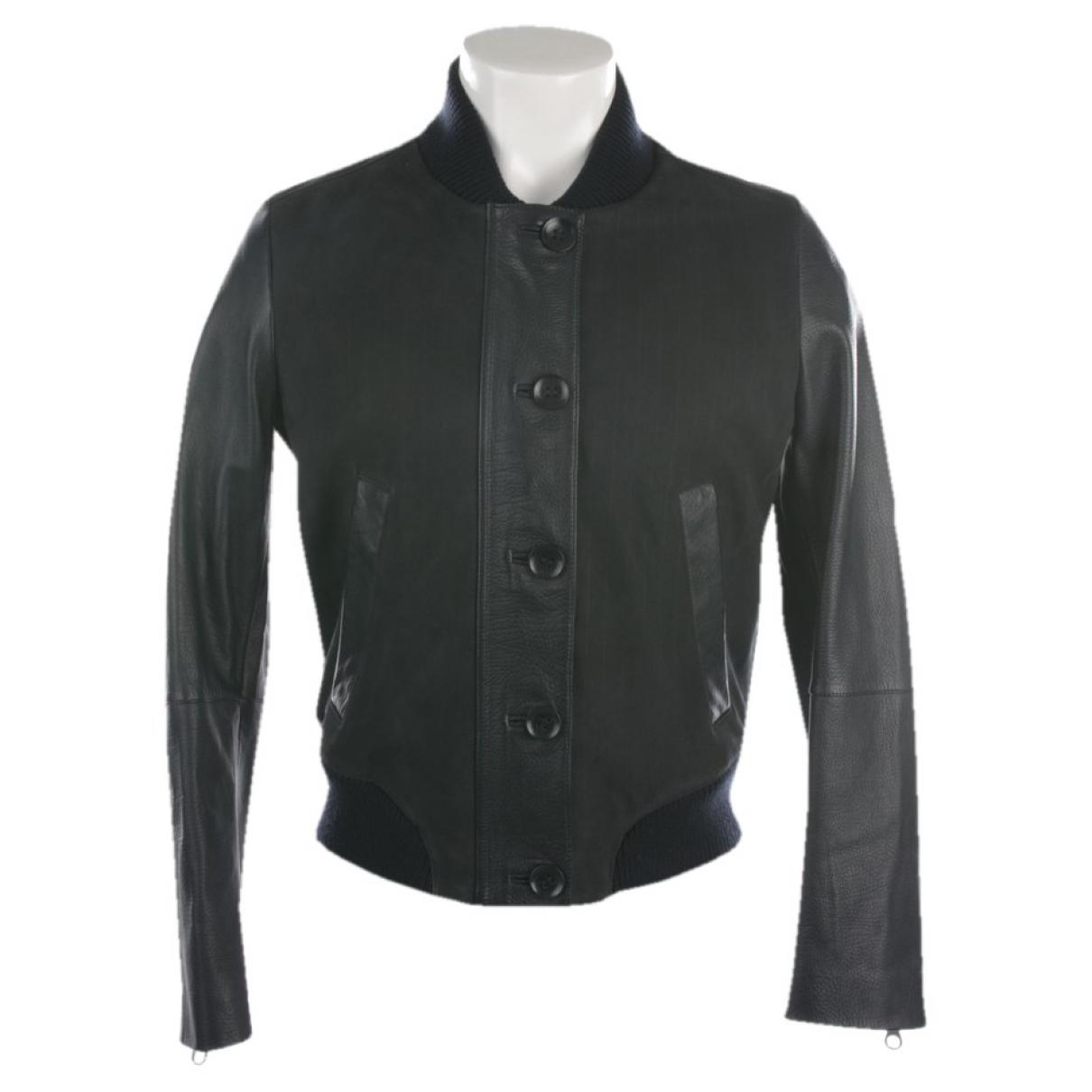 Gant Rugger \N Blue Leather jacket for Women 38 FR