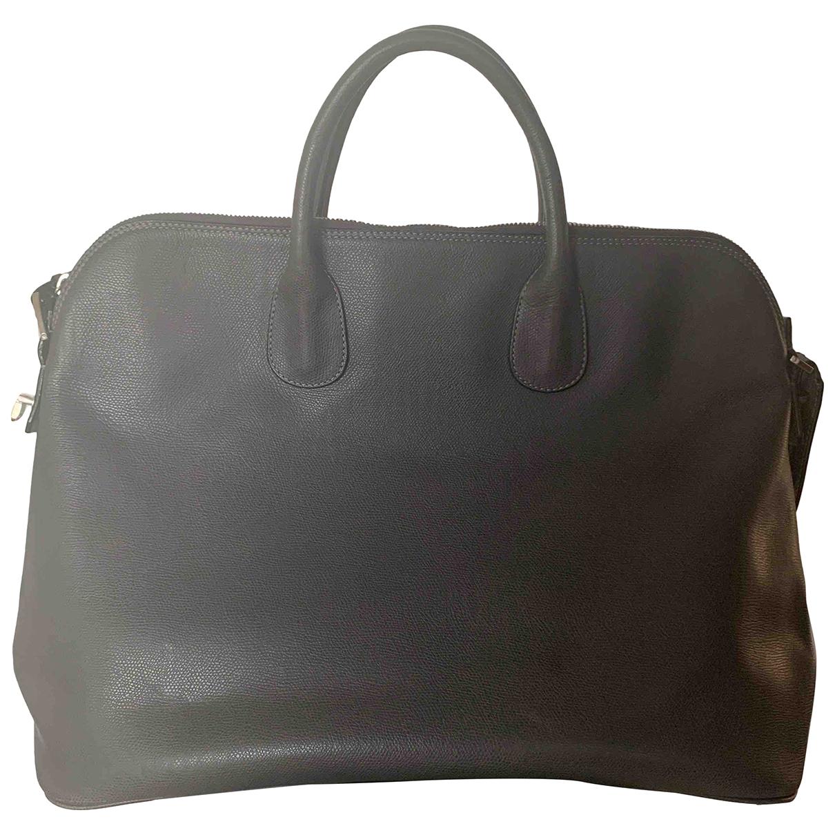 Valextra \N Anthracite Leather bag for Men \N