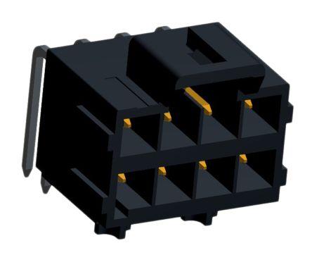 Molex , Ultra-Fit, 172316, 8 Way, 2 Row, Right Angle PCB Header (2)