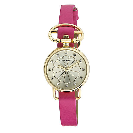 Laura Ashley Ladies Pink/Gold Heirloom Watch La31001Yg, One Size , No Color Family