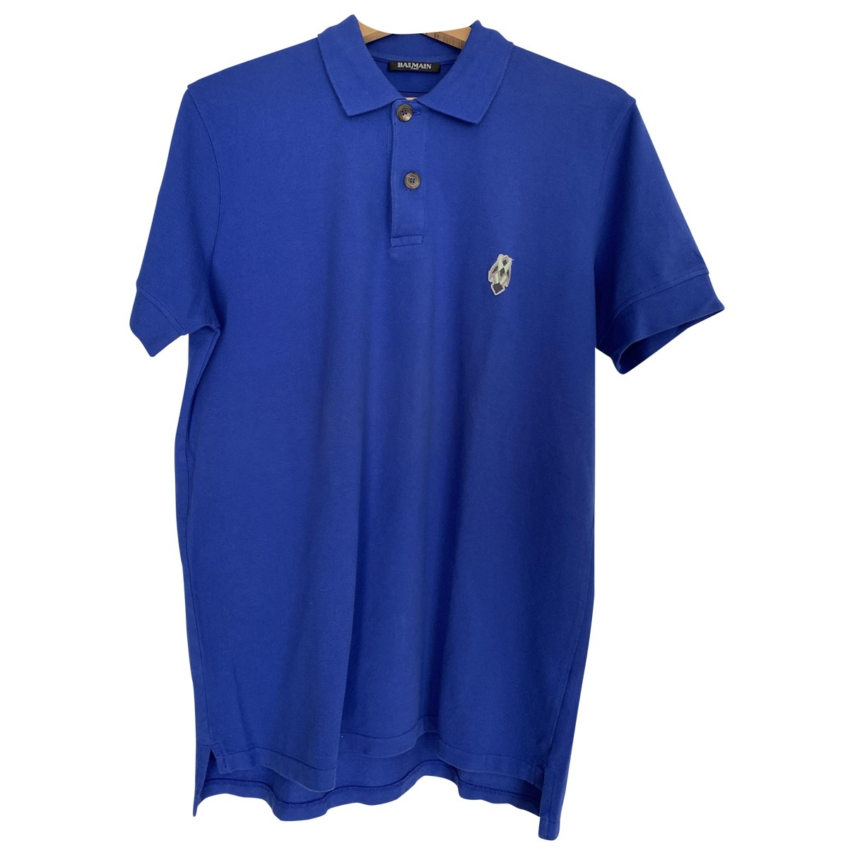 Balmain \N Blue Cotton Polo shirts for Men S International