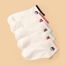 5pairs Cartoon Graphic Socks
