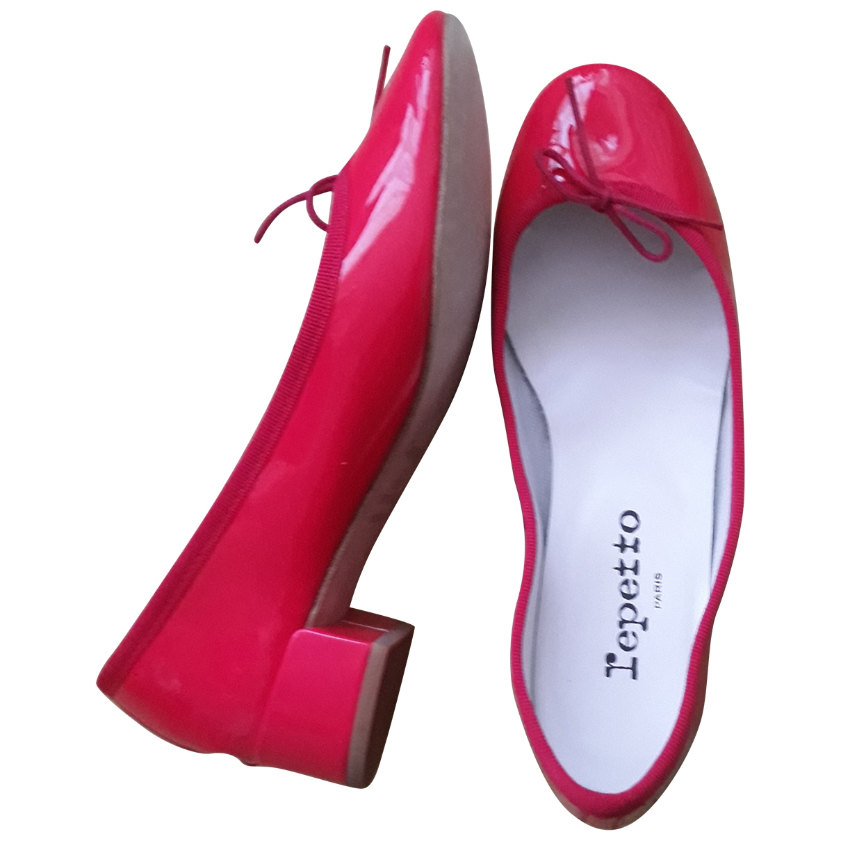 Repetto \N Pink Patent leather Heels for Women 37 EU