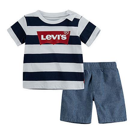 Levi's Little Boys 2-pc. Short Set, 4 , Blue