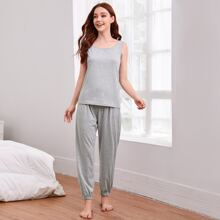 Tank Top With Knot Pants Lounge Set