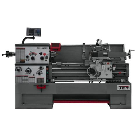 Jet Gear Head 14 x 40 ZX Lathe with Acu-Rite 203 DRO and Collet Closer Installed