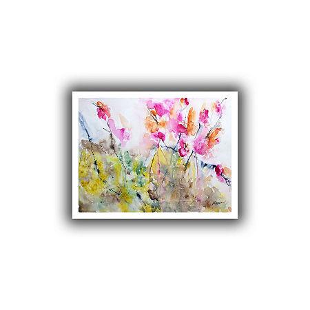 Brushstone Summer Pink Canvas Wall Art, One Size , White