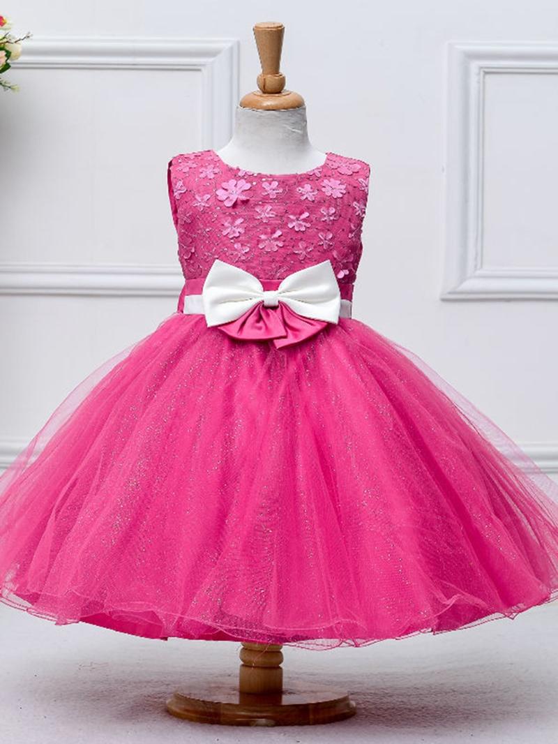 Ericdress Sequins Bow Lace Sleeveless Girl Tutu Dress