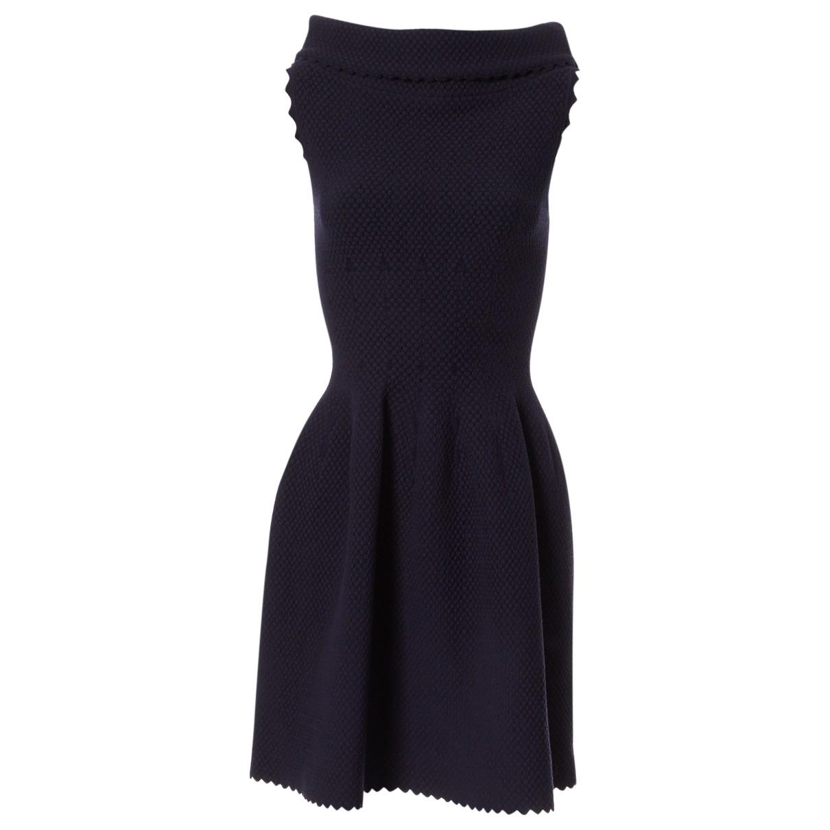 Alaïa \N Navy Wool dress for Women 38 FR