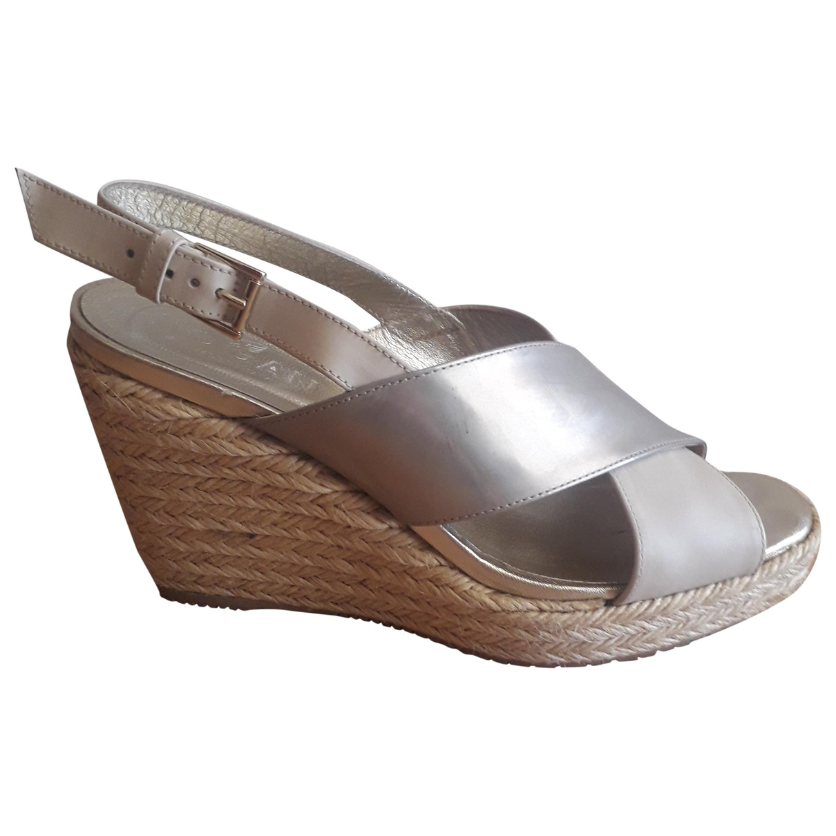 Hogan \N Gold Leather Sandals for Women 37 IT