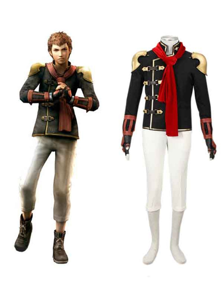 Milanoo Final Fantasy Type-0 Suzaku Peristylium Class Zero NO.8 Eight Cosplay Costume Halloween