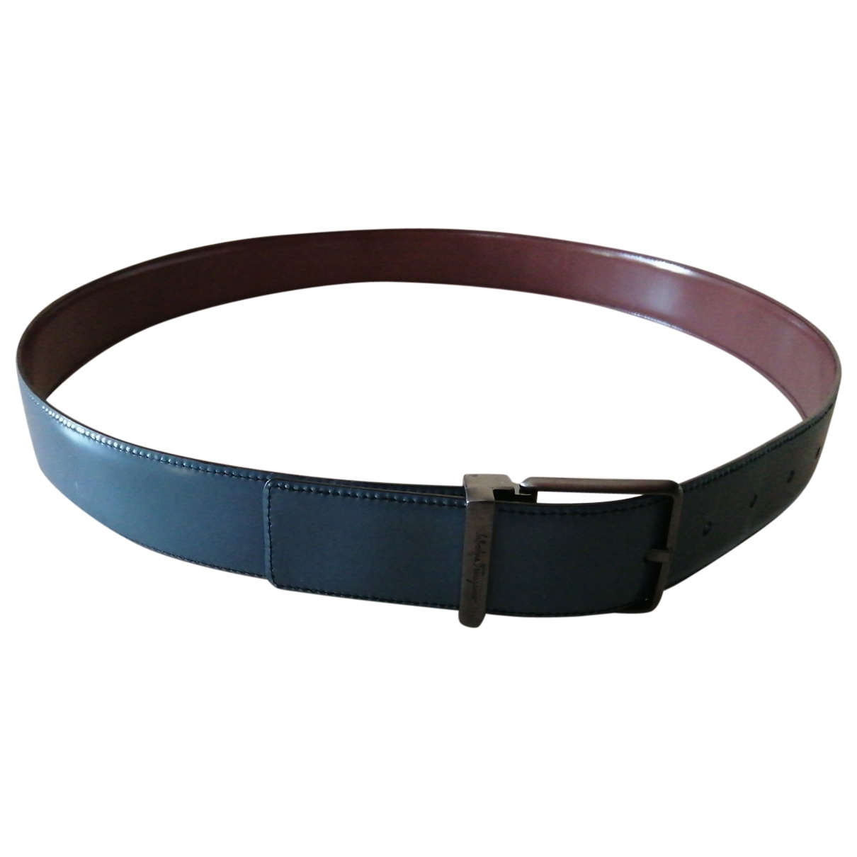 Salvatore Ferragamo \N Blue Leather belt for Men 100 cm