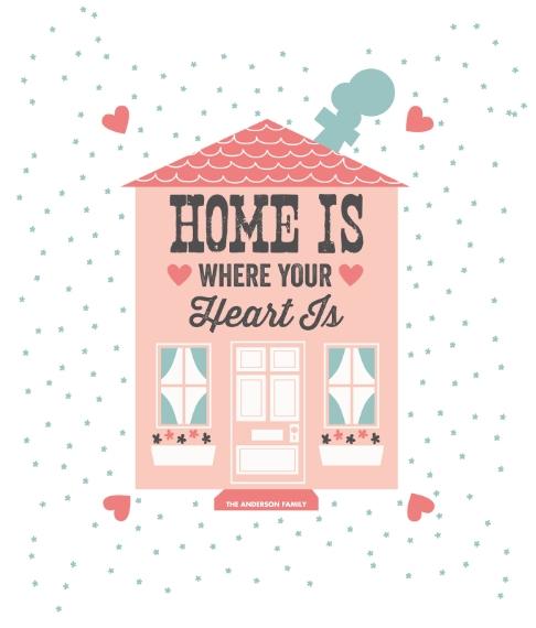 Everyday Canvas Print, 8x10, Home Décor -Heart House (Canvas)